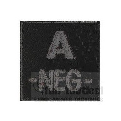 Patch Groupe Sanguin A- noir