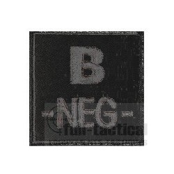 Patch Groupe Sanguin B- noir