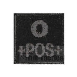 Patch Groupe Sanguin O+ noir