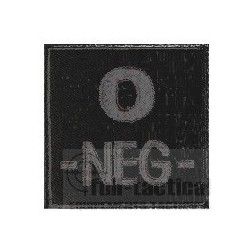 Patch Groupe Sanguin O- noir