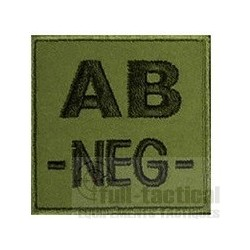 Patch Groupe Sanguin AB- kaki