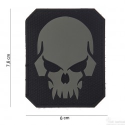 Patch Pirate Skull noir/gris