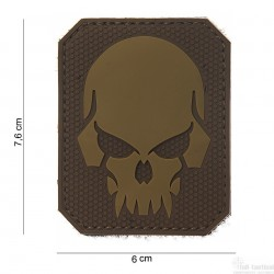 Patch Pirate Skull marron