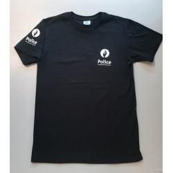 T-Shirt Police Bleu