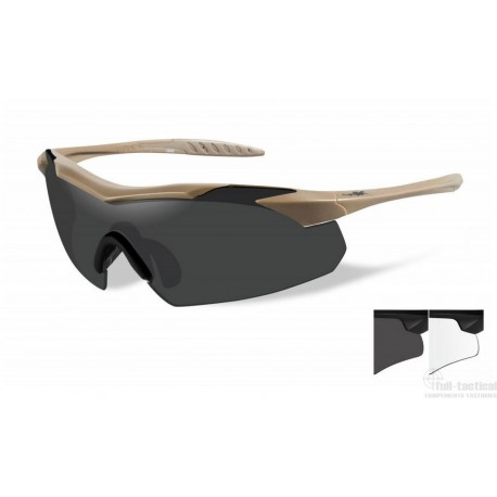 Lunettes de protection balistiques Vapor tan écrans fumé/incolore