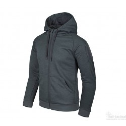 Urban Tatical Hoodies Black Grey Melange Helicon Tex