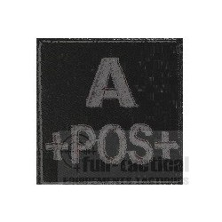 Patch Groupe Sanguin A+ noir