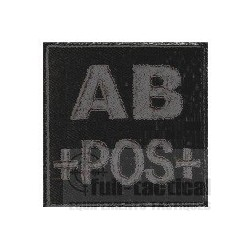 Patch Groupe Sanguin AB+ noir