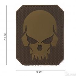 Patch Pirate Skull marron