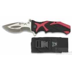 Couteau pliant K25 noir/rouge
