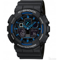 Montre G-Shock Classic GA-100 noir/bleu