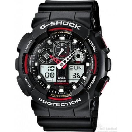Montre G-Shock Classic GA-100 noir/rouge