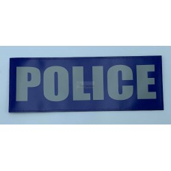 PATCH DORSAL POLICE BLEU