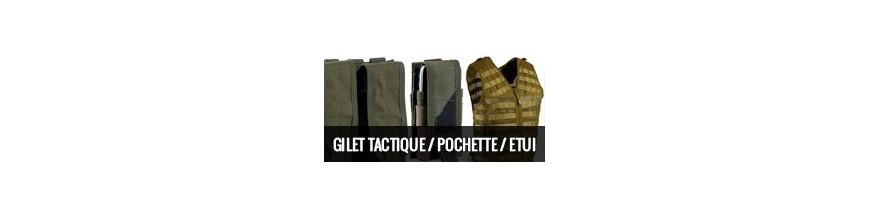 Gilet tactique/ Pochette/ Etui