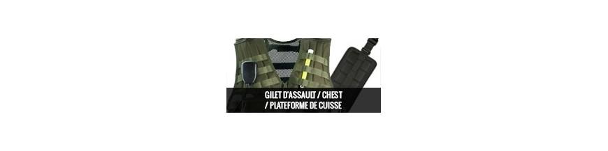 Gilet d'assaut/ Chest/ Plateforme de cuisse